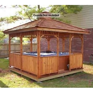 Easy-build-square-gazebo